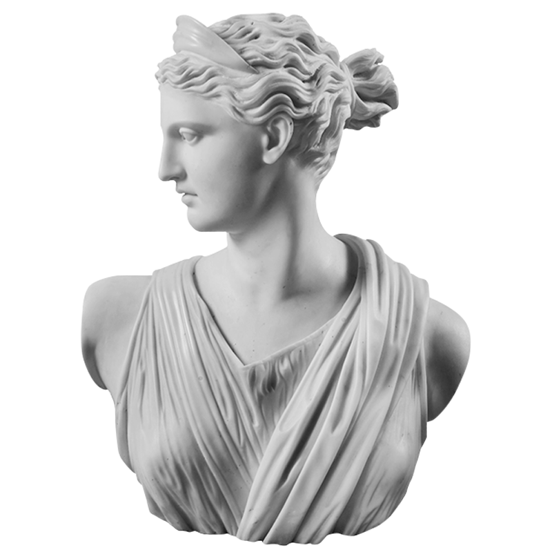 Image of statue head of Artemis Diana greek Roman Goddess